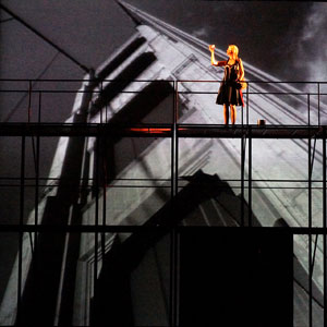 Erin Barlow (Honey) in ZACH Theatre's World Premiere of Steven Dietz's MAD BEAT HIP & GONE. Photo by Kirk Tuck.