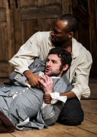 THE WHIPPING MAN's Austin Premiere at City Theatre T to B: Richard R. Romeo and Andrew Bosworth in THE WHIPPING MAN.