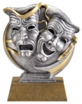 Theatre-Masks-Antique-Resin-Trophy