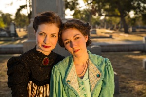 """Taylor Flanagan as Mina Murray and Jessica Riley as Lucy Westenra. Different Stages' production of """"Dracula"""" runs through Dec. 12."""