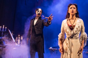 THE PHANTOM OF THE OPERA 1 - Derrick Davis and Katie Travis - photo Matthew Murphy